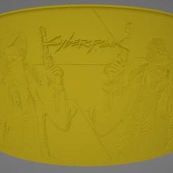 Cyberpunk 2077.jpg Descargar archivo STL Cyberpunk 2077 Litophane • Diseño para imprimir en 3D, Lithoman