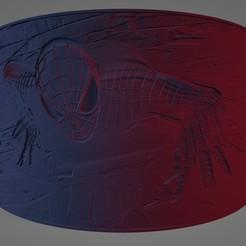 Spiderman 1.jpg Download STL file Spiderman Lithophane • Object to 3D print, Lithoman