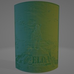 The Legend of Zelda Breath of the Wild 1.jpg Télécharger fichier STL La légende de Zelda Souffle de la lithophane sauvage • Modèle à imprimer en 3D, Lithoman