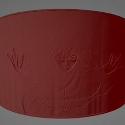Naruto Gaara Litho.jpg Télécharger fichier STL Naruto Gaara Litophane • Plan pour imprimante 3D, Lithoman