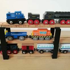 Brio pont.jpg Télécharger fichier STL Pont tunnel train BRIO - Bridge BRIO wood train • Objet imprimable en 3D, Lesidees3D