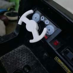 Hummer électrique volant.jpg Download free STL file Electric Hummer Steering Wheel 12V • 3D print model, Lesidees3D