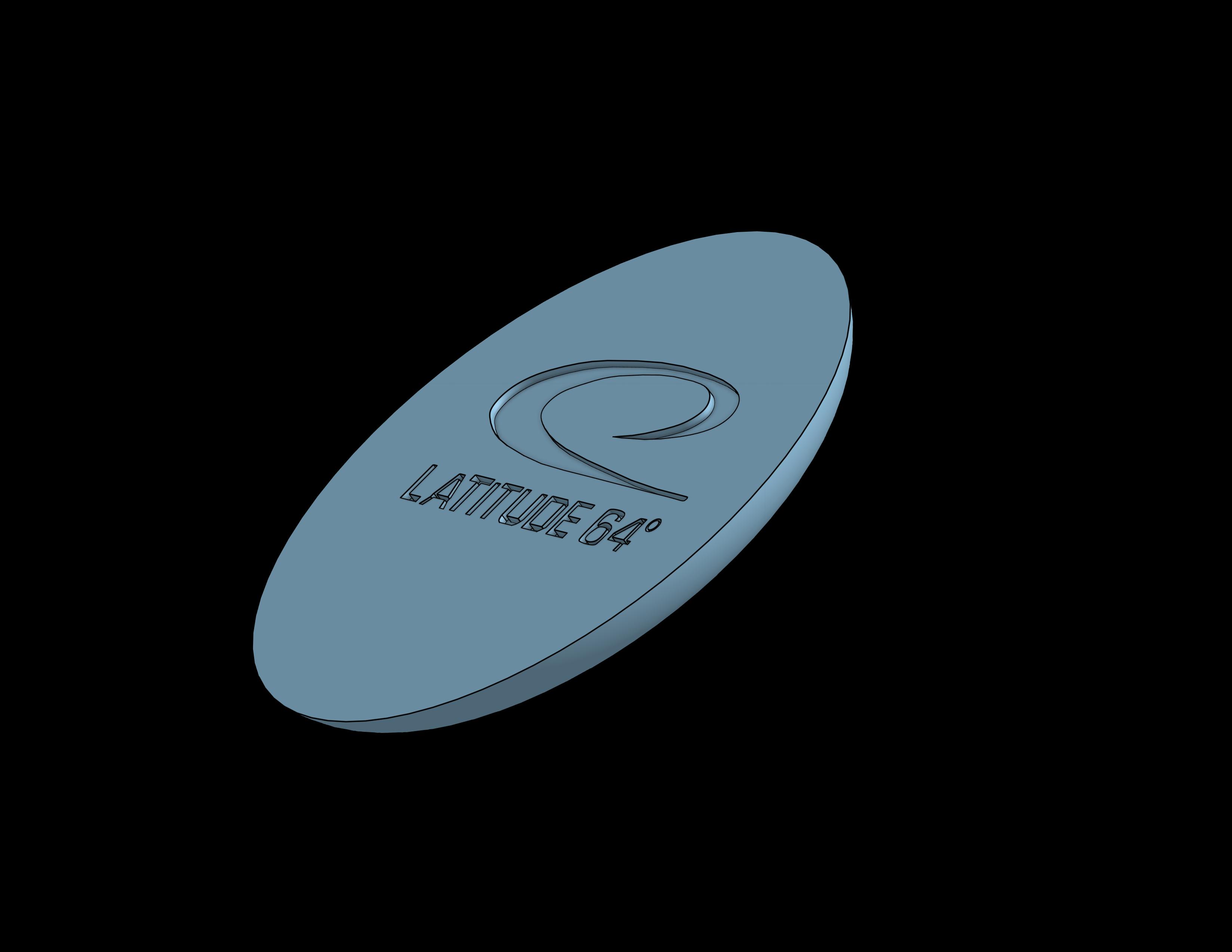 Latitude 64.png Download free STL file Disc Golf Coaster set • 3D printable design, parkerpate28