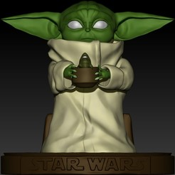 WhatsApp Image 2020-10-02 at 00.42.27.jpeg Download STL file Baby Yoda with Pot and frog • 3D printing design, wendelgoes