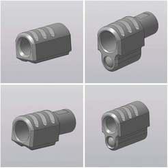 _имени-1.jpg Download free STL file Compensator for WE GBB pistol 1911 • 3D print model, foxstrat