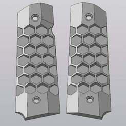 7.jpg Download free STL file Grips HONEYCOMB for WE/KJW GBB pistol 1911 • 3D print design, foxstrat