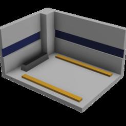 HT Garage v15.png Télécharger fichier STL 3D IMPRIMABLE 1:64 HOTWHEELS GARAGE • Plan pour impression 3D, thegearheadfactory