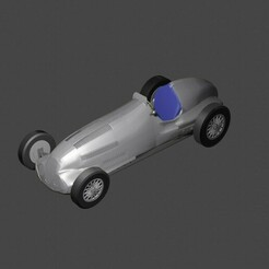 12.jpg Download STL file MERCEDES-BENZ W125 3D PRINTABLE • Object to 3D print, thegearheadfactory