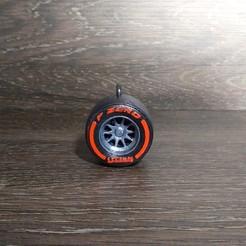 IMG_20200923_103026_428.jpg Download STL file F1 Pirelli Tire/Wheel Keyring • 3D printing object, thegearheadfactory