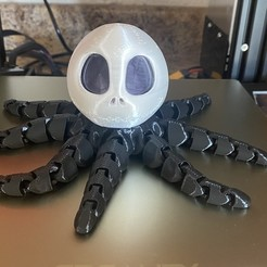 IMG_1091.jpg Download STL file Jack Skellington Flexi Octopus • 3D printable design, jgruber