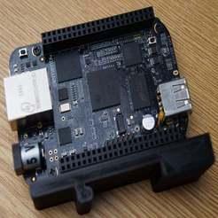Download free STL file DIN Rail Mount: BeagleBone Black • Design to 3D print, Octoate