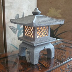 main2.jpg Download STL file Japanese Garden Lantern Lamp (Ishi-Doro)  • 3D print design, KeenanFinucan