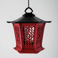 red black sls lantern.jpg Download free STL file Asian Lantern • 3D printable design, KeenanFinucan