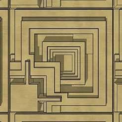 """mosaic.jpg Télécharger fichier STL gratuit Frank Lloyd Wright """"Blade Runner"""" Ennis House Tile • Modèle pour impression 3D, KeenanFinucan"""