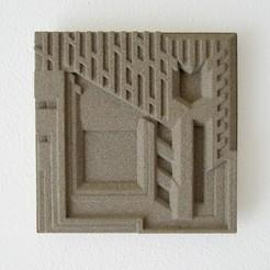 freeman tile.jpg Download free STL file Frank Lloyd Wright Freeman House Tile • Object to 3D print, KeenanFinucan