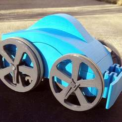 Flywheel_Diagonal.JPG Download free STL file Flywheel Toy Car • 3D print template, KeenanFinucan