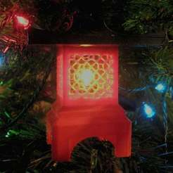 Download free STL file Japanese Lantern Christmas Ornament • 3D print design, KeenanFinucan
