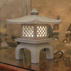 Download STL file Japanese Garden Lantern Lamp (Ishi-Doro)  • 3D print design, KeenanFinucan
