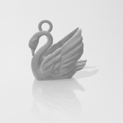 Christmas_Ornament-Swan.PNG Download STL file Christmas Swan Ornament • 3D printer template, ryancollins27