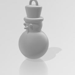 Christmas_Ornament-Snowman.PNG Download STL file Christmas Snowman Ornament • 3D printer model, ryancollins27