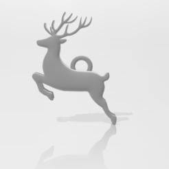 Christmas_Ornament-Deer.PNG Download STL file Christmas Deer Ornament • 3D printer design, ryancollins27