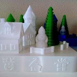 H08.jpg Download free STL file Small Base (vase mode) Santa Claus Village ver. 2 • 3D printing object, dobloxy