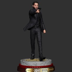 Download free STL file Jonh Wick Action Figure Printable - Keanu Reeves • Design to 3D print, StudioX
