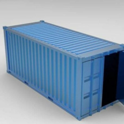 render2.PNG Download STL file Cargo Sea Container 6m 20 feet • 3D print design, jorgeriano