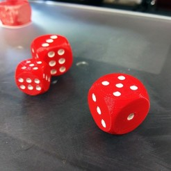 Free Dice - Dual Color STL file, gCreate