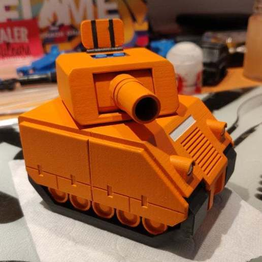 front.jpg Download free STL file Advance wars tank (lego compatible) • 3D printable template, Yahnn