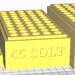 45 COLT.png Download STL file 45 COLT (50 Rounds) Stackable Ammo Storage • 3D print design, BACustomsMN