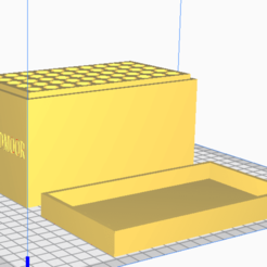 6.8 Creedmoor.png Download STL file 6.8 Creedmoor (50 Rounds) Stackable Ammo Storage • 3D printable object, BACustomsMN