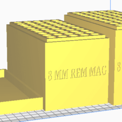 8 MM REM MAG.png Download STL file 8 MM WIN MAG (50 Rounds) Stackable Ammo Storage • Object to 3D print, BACustomsMN
