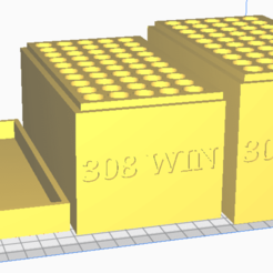 308 WIN.png Download STL file 308, 308 WIN (50 Rounds) Stackable Ammo Storage • 3D printable object, BACustomsMN