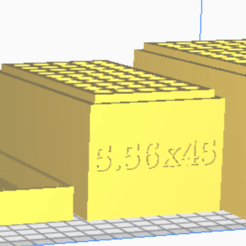 5.56x45.png Download STL file 5.56 NATO (50 Rounds) Stackable Ammo Storage • 3D printer design, BACustomsMN