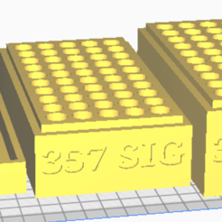 357 SIG.png Download STL file 357 SIG (50 Rounds) Stackable Ammo Storage • 3D print model, BACustomsMN
