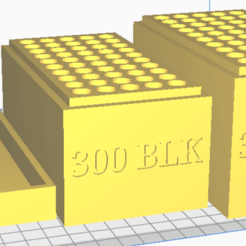 300 BLK.png Download STL file 300 BLK, (50 Rounds) Stackable Ammo Storage • 3D printing model, BACustomsMN