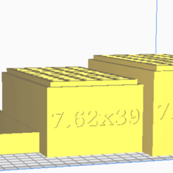 7.62x39.png Download STL file 7.62x39 (50 Rounds) Stackable Ammo Storage • 3D print object, BACustomsMN