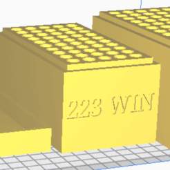 223 WIN.png Download STL file 223 WIN (50 Rounds) Stackable Ammo Storage • 3D printable model, BACustomsMN