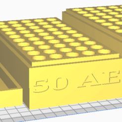 50 AE.png Download STL file 50 AE (50 Rounds) Stackable Ammo Storage • Design to 3D print, BACustomsMN