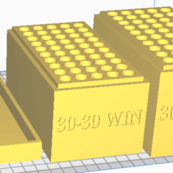 30-30 WIN.png Download STL file 30-30 WIN (50 Rounds) Stackable Ammo Storage • 3D print object, BACustomsMN