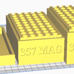 357 MAG.png Download STL file 357 MAG (50 Rounds) Stackable Ammo Storage • 3D printer design, BACustomsMN