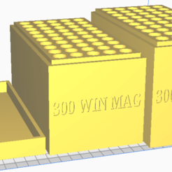 300 WIN MAG.png Download STL file 300 WIN MAG (50 Rounds) Stackable Ammo Storage • Model to 3D print, BACustomsMN