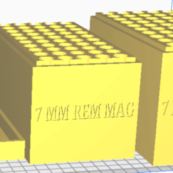 7 MM REM MAG.png Download STL file 7 MM WIN MAG (50 Rounds) Stackable Ammo Storage • 3D printable object, BACustomsMN