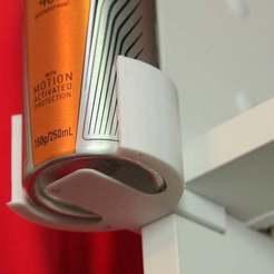 IMG_5278.JPG Télécharger fichier STL gratuit Clip pour étagère de déodorant • Plan pour impression 3D, philbarrenger