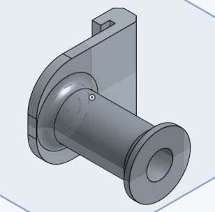 fabrikator_filament_holder_3d_view.jpg Télécharger fichier GCODE gratuit Fabrikator Mini Filament Spool • Objet à imprimer en 3D, philbarrenger