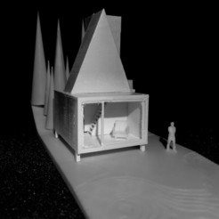 IMG_20200810_213827 (1).jpg Download STL file A little cabin in the forest • 3D printable model, supman
