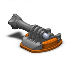 Go pro holder mechanism 1.png Download STL file GoPro holder kit • 3D printing object, ModestasStankaitis