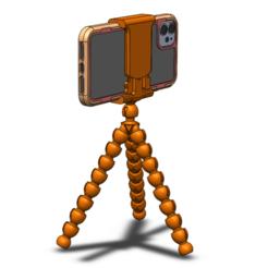 Tripod with phone.png Download STL file Tripod  • 3D printable object, ModestasStankaitis
