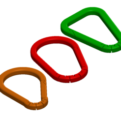 Carabiner collection 3x3.png Download STL file Carabiner collection - 3 designs - 3 sizes • Template to 3D print, ModestasStankaitis